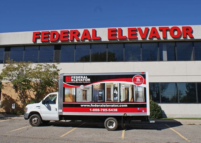 Outside View of Federal Elevator
