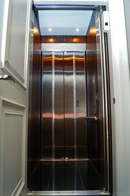 Residential Elevator with Cherry walls