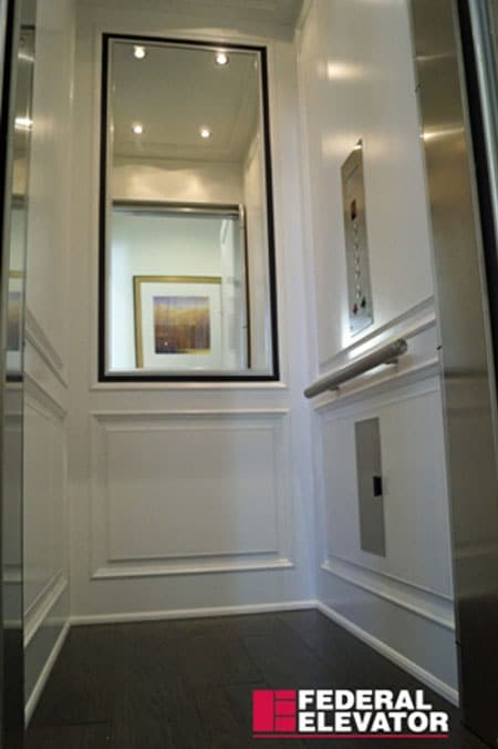Residential Elevators with Mirror Walls